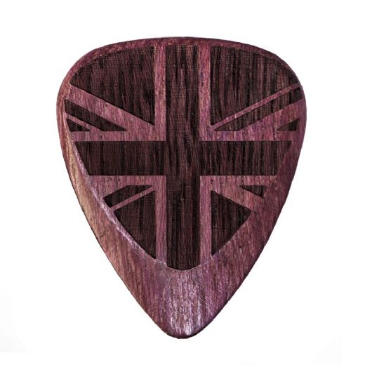 Flag Tones Union Jack Purple Heart 1 Guitar Pick
